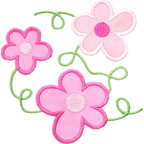 Flower Vines Applique Design
