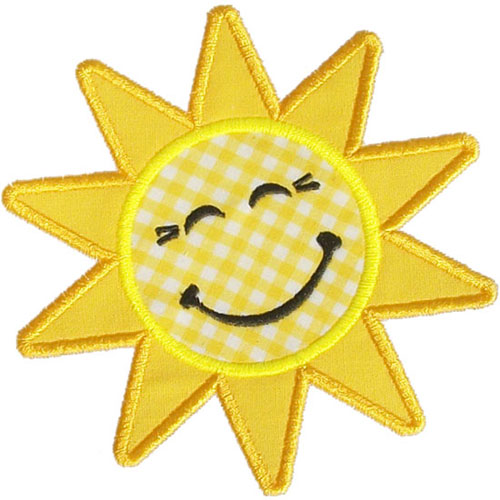 Our Happy Applique Sun Design