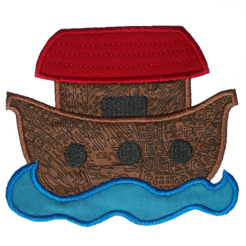 Noahs Ark Applique Design