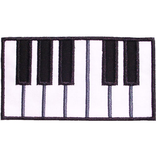 Piano Keys Applique Design
