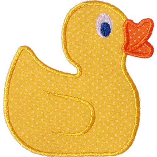 rubber duck applique design. Black Bedroom Furniture Sets. Home Design Ideas