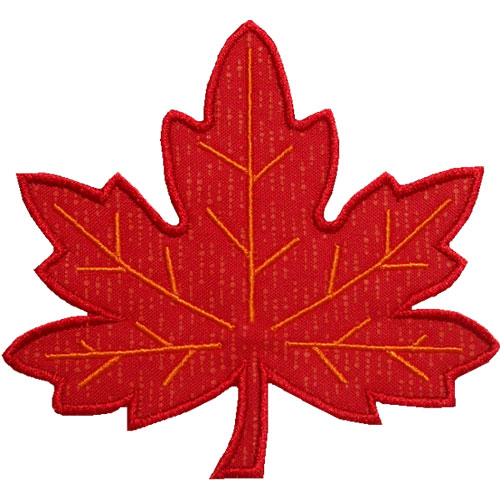 Maple Leaf Applique Design