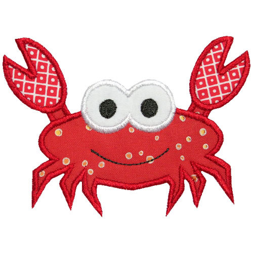 Sea Crab Applique Design
