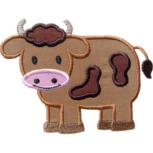 Boy Cow Applique Design