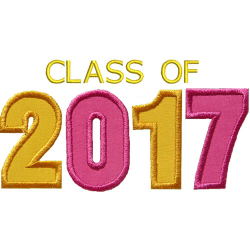 varsity class of 2017 applique design