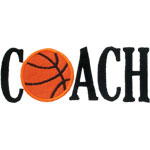 Basketball Coach Applique Design