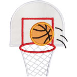 Basketball Hoop Applique Design