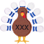Bowling Turkey Applique Design