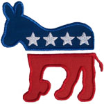 Democratic Donkey Applique Design