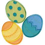 Easter Egg Pile Applique Design