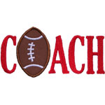 Football Coach Applique Design