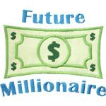 Future Millionaire Applique Design