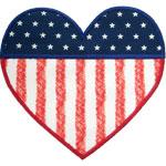 Heart Flag Applique Design
