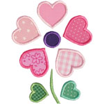 Heart Flower Applique Design
