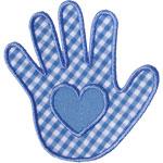 Heart Handprint Applique Design