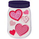 Jar Of Hearts Applique Design