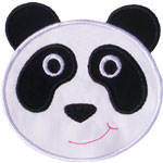 Panda Bear Face Applique Design