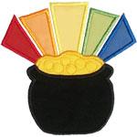 Pot of Gold Applique Design