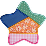 Quilted Star Applique Design