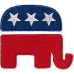 Republican Elephant Applique Design