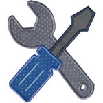 Screwdriver Wrench Applique Design