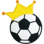 Soccer Crown Applique Design