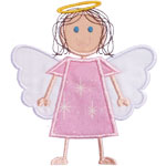Stick Girl Angel Applique Design