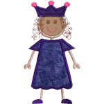 Stick Girl Princess Applique Design