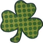 Three Leaf Clover Applique Design