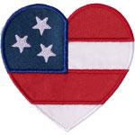 USA Flag Heart Applique Design
