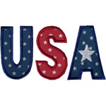 USA Lettering Applique Design