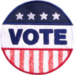 Vote Button Applique Design