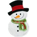 Baby Snowman Applique Design