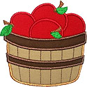 Basket Apples Applique Design