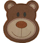 Bear Face Applique Design