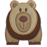 Big Bear Applique Design