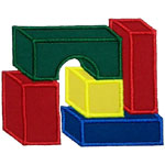 Building Blocks Applique Design