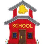 Old School House Applique Design