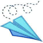 Paper Airplane Applique Design