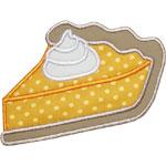 Pumpkin Pie Slice Applique Design