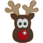 Rudolph Face Applique Design