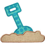 Sand Shovel Applique Design