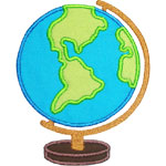 School Globe Applique Design