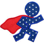 Super Runner Applique Design