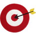 Target Arrow Applique Design