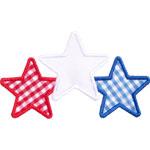 Three Stars Applique Design