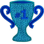 Trophy Cup Applique Design