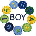 Birthday Boy Circle Applique Design
