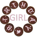 Birthday Girl Circle Applique Design