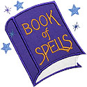 Book Of Spells Applique Design